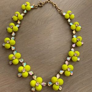 J. Crew lime green statement necklace